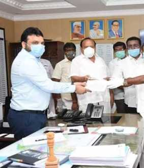tamilnadu government cuddalore collector meet dmk leaders coronavirus prevention