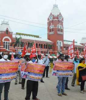 CITU nationwide protest against railway privatisation