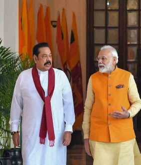 modi rajapakse discusses about tamil people
