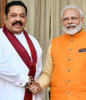 Delighted to address my friend Rajapaksa - Modi tweet in Tamil!
