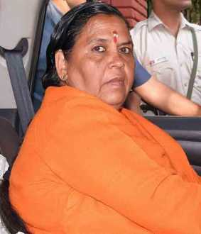uma bharti admitted to aiims