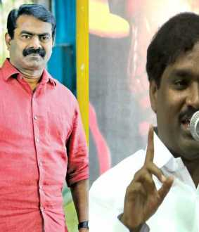 Case filed against Thirumavalavan! -Seeman, Velmurugan condemned