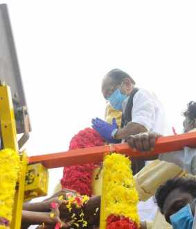 various politics party leaders pay homage muthuramalinga thever