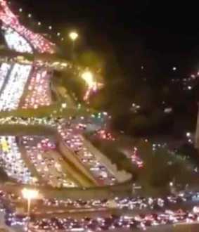 700 km long traffic jam in paris