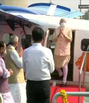 sea plane pm narendra modi in gujarat