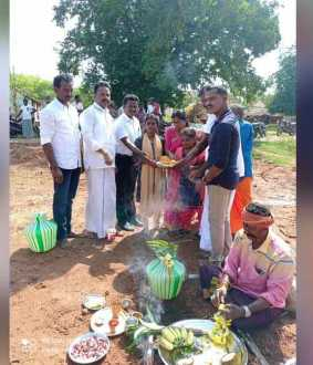 puthukottai student boram sathya started build new house with Bhoomi Pooja ..!