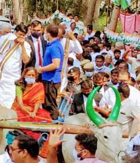 Rahul gandhi in karur election campaign
