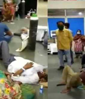 Corona patients lying on the floor ... shocked by the video !!