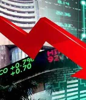 Indian stock markets fall sharply! 8.70 lakh crore loss in a single day