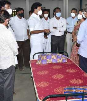 Minister Anbil Mahesh inspects Trichy NIT